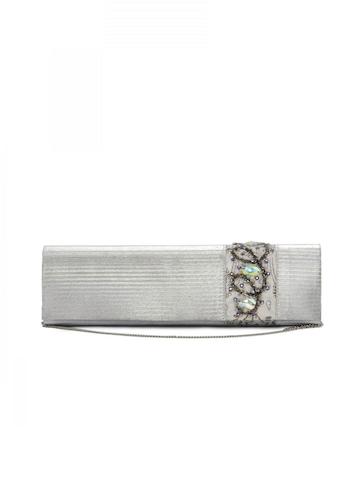 Spice Art Women Shimmer Silver Clutch