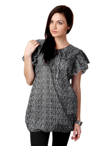 Sritika Women Grey Printed Top