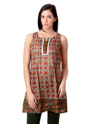 Sushilas Women Printed Brown Kurta