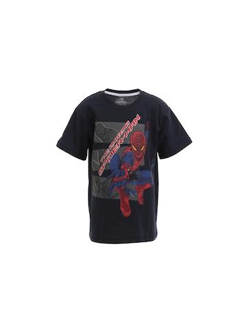 The Amazing Spiderman Boys Navy Blue T-shirt