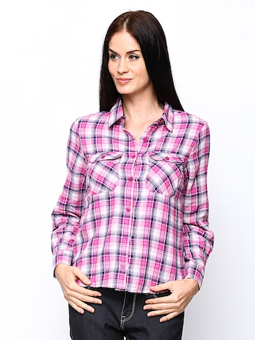 Buy The Vanca Women Pink Checked Shirt - Shirts for Women | Myntra