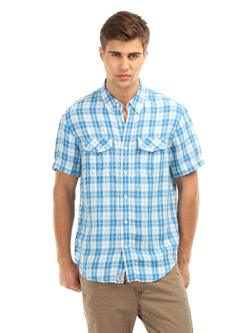 Timberland Men Blue Check Shirt