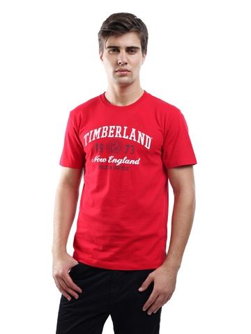 Timberland Men's Linear Logo Red T-shirt