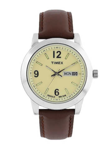 Timex Men Cream Dial Watch