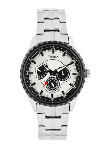 Timex Men Sliver Dial Chronograph Watch