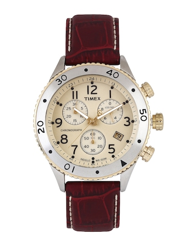 Timex Men Beige Dial Watch T2M705