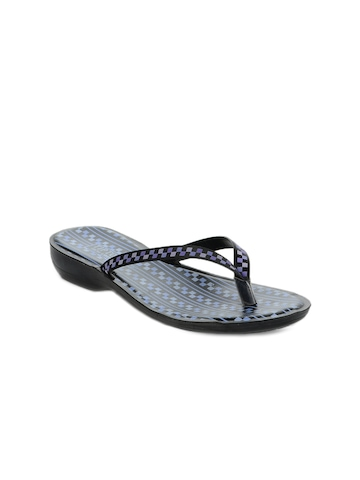 Tiptopp Women Black Flip Flops