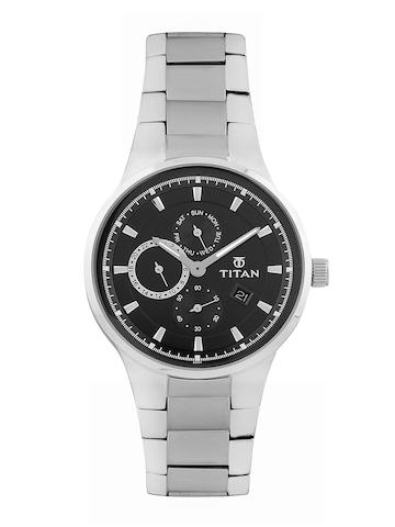 Titan Men Black Dial Watch at myntra