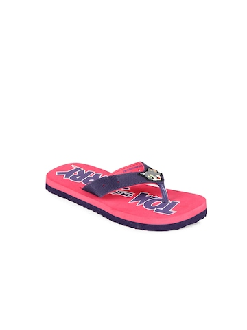 Tom & Jerry Unisex Purple Flip Flops