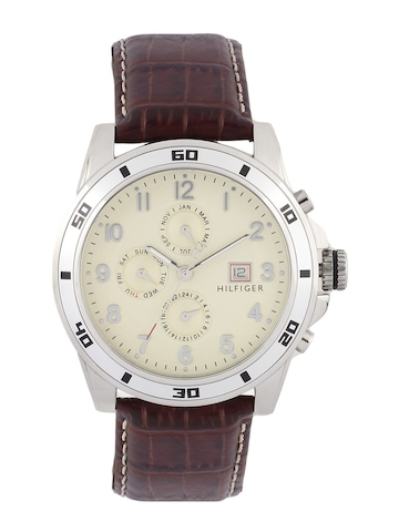 Tommy Hilfiger Men Beige Analog Chronograph Watch NTH1790739-D