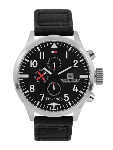 Tommy Hilfiger Men Black Dial Chronograph Watch TH1790683-D