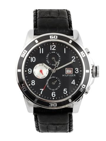 Tommy Hilfiger Men Black Analog Chronograph Watch NTH1790740-D