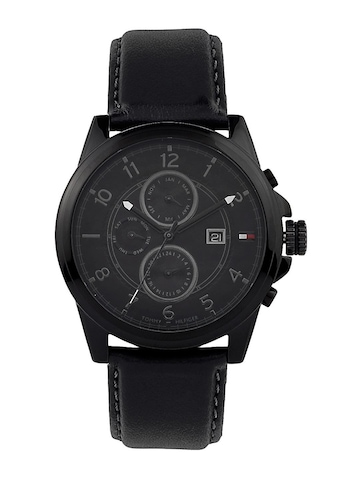 Tommy Hilfiger Men Black Analog Chronograph Watch NTH1710295-D