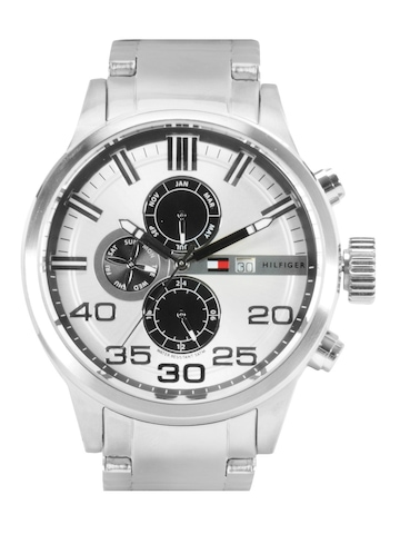 Tommy Hilfiger Men Silver-Toned Chronograph Watch TH1790786/D