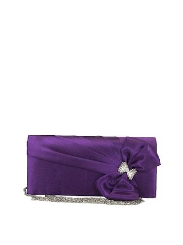 ToniQ Women Purple Clutch