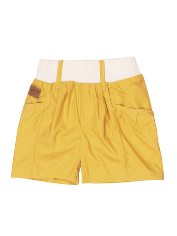 U.S. Polo Assn. Kids Girls Yellow Shorts at myntra