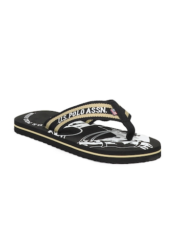 U.S. Polo Assn. Men Brown Flip Flops