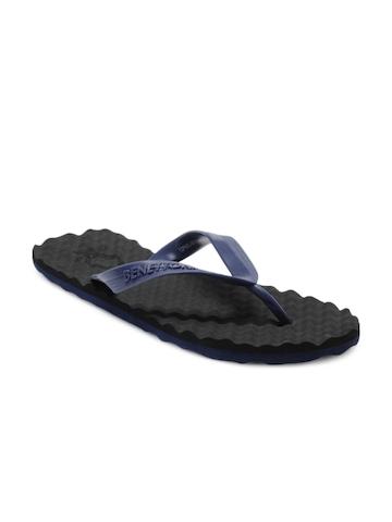 United Colors of Benetton Men Black Flip Flops