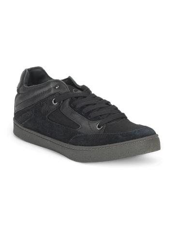 United Colors of Benetton Men Black Shoes