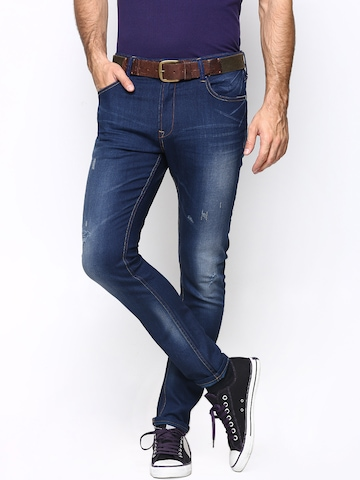 United Colors of Benetton Men Blue Carrot Fit Jeans available at