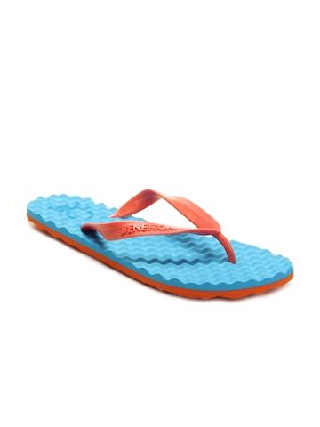 United Colors of Benetton Men Blue Flip Flops