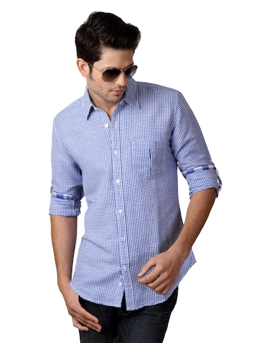 United Colors of Benetton Men Blue Shirt