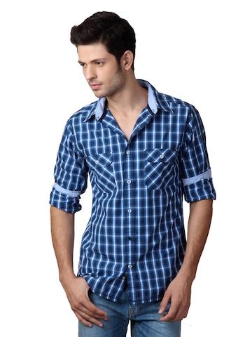 United Colors of Benetton Men Blue Shirt