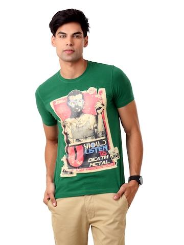 United Colors of Benetton Men Green T-shirt