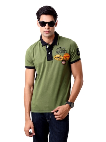 United Colors of Benetton Men Green T-shirt