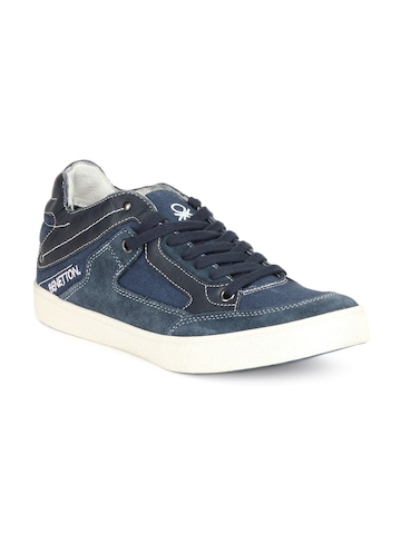United Colors of Benetton Men Navy Blue Shoes
