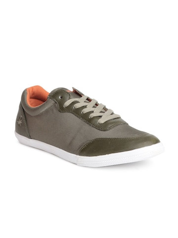 United Colors of Benetton Men Olive Shoes