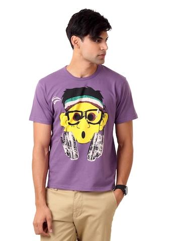 United Colors of Benetton Men Purple T-shirt