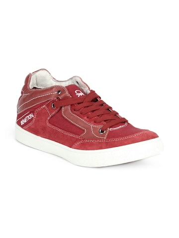 United Colors of Benetton Men Red Shoes