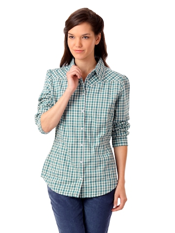 United Colors of Benetton Women Blue Check Shirt