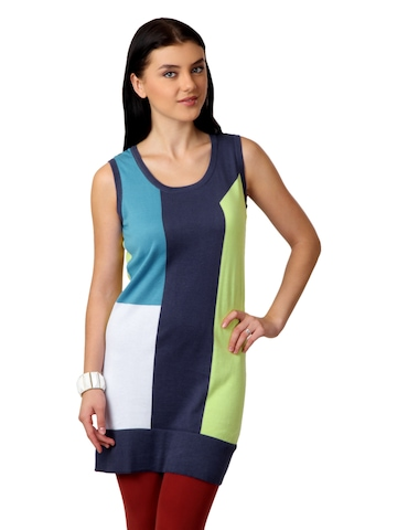 United Colors of Benetton Women Blue Tunic