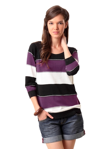 United Colors of Benetton Women Purple Sweater