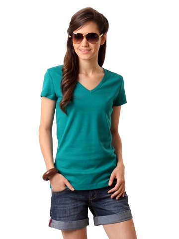 United Colors of Benetton Women Green T-shirt