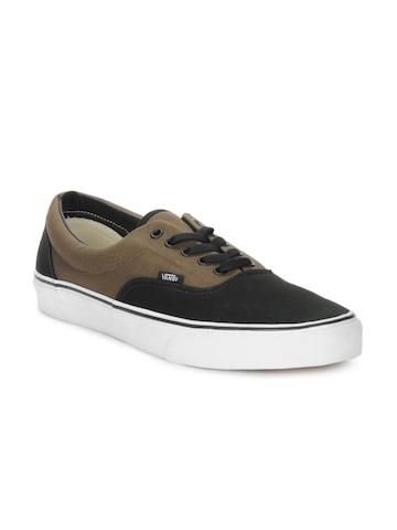 Vans Men Black & Brown Era Shoes