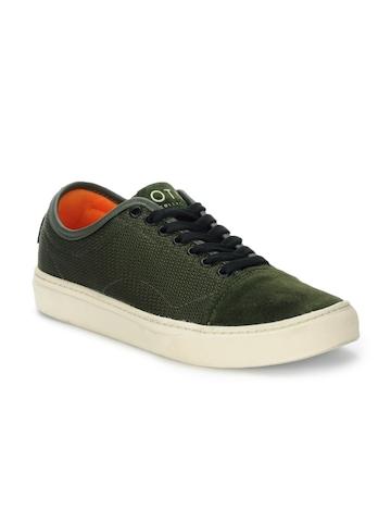Vans Men Green Larkin Shoes
