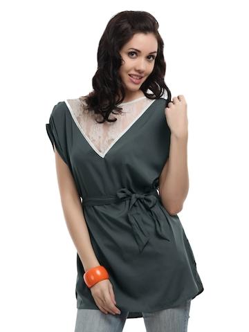 Vero Moda Women Simka Grey Top