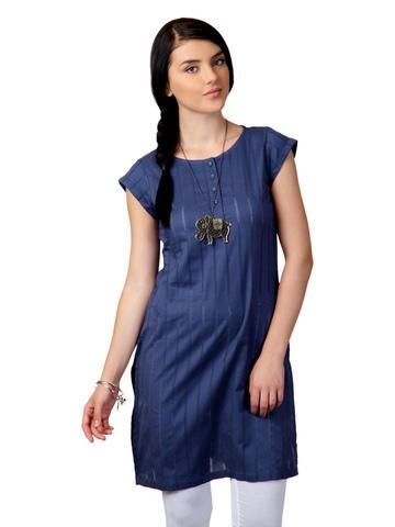 W Women Blue Kurta