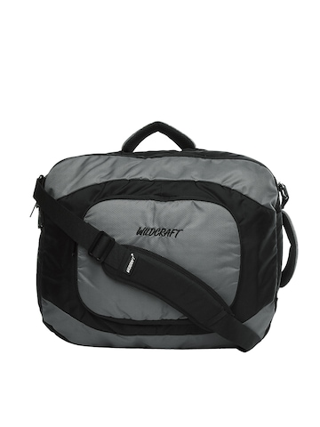 Wildcraft Unisex Black & Grey Laptop Bag cum Backpack