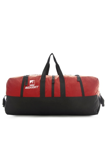 Wildcraft Unisex Black & Red Duffel Bag