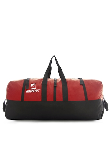 Wildcraft Unisex Black & Red Duffle Bag