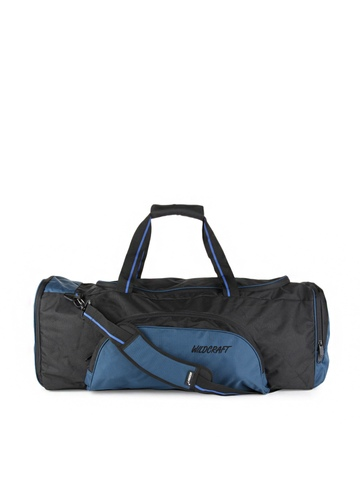 Wildcraft Unisex Black & Blue Duffel Bag
