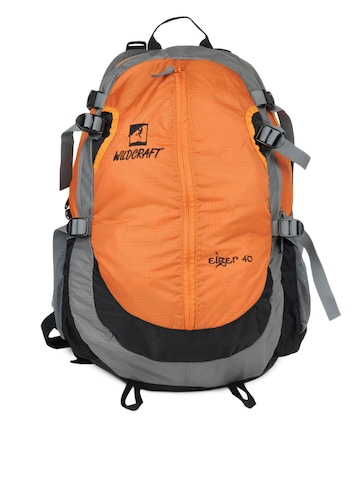 Wildcraft Unisex Eiger Orange Grey Black Backpack