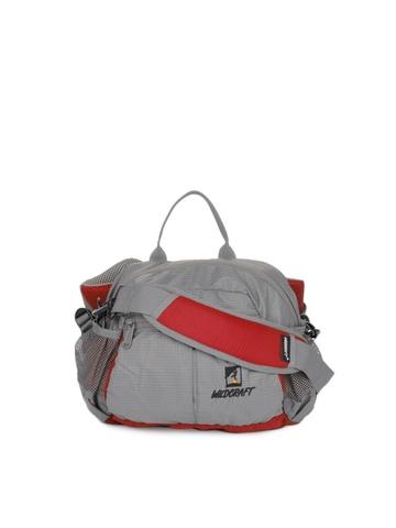 Wildcraft Unisex Grey & Red Waist Pouch
