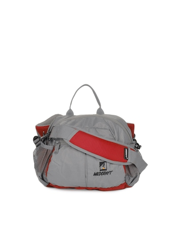 Wildcraft Unisex Grey & Red Waist Pouch