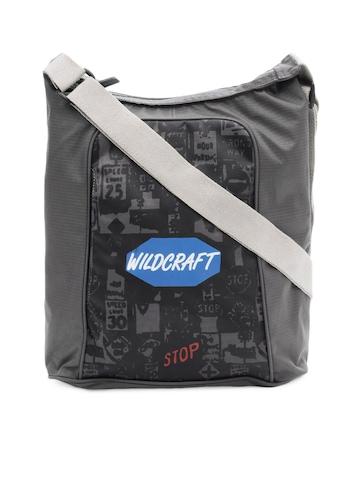 Wildcraft Unisex Grey Printed Sling Bag