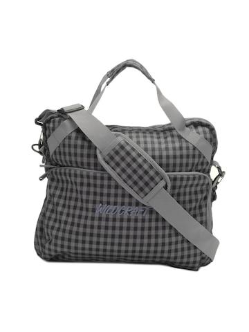 Wildcraft Unisex Grey & Black Checked Spawn Laptop Bag